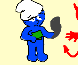 a young smurf who unfortunately sold his soul
