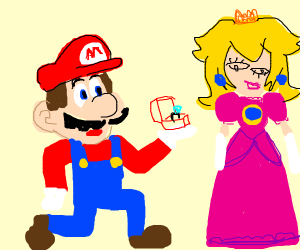 Mario confesses his love to Peach (ugly)