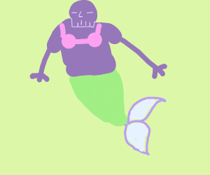 thanos mermaid
