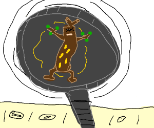 cooking a sudowoodo in a pan