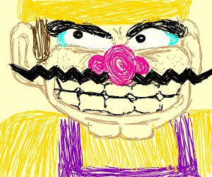 Extremely realistic and detailed Wario