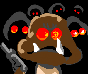 Goombas wields guns.