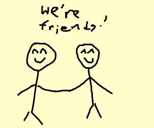 Two friendly friends! <3