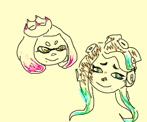 Splatoon Pearl and Marina