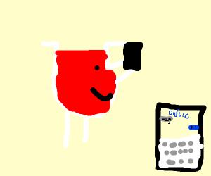 Kool-Aid Man texting Garlic