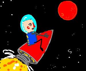 riding a rocket to mars