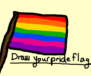 Everybody draw your pride flag!