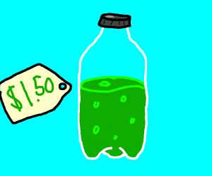 Green soda on sale
