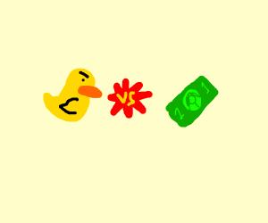 EPIC BATTLE: Duck VS 1$ Bill
