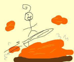 Lava surfer