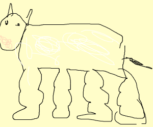 Cow with buff legs