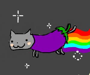 Nyan eggplant cat