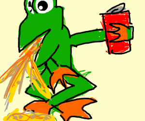 Frog doesn't like Coca Cola