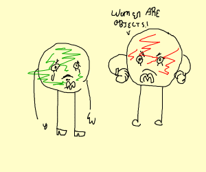the red m n m doesn't respect the green one
