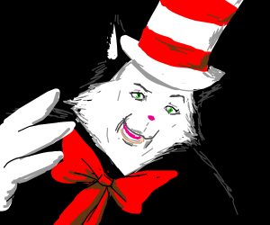 370a2288 Nightmare Cat in the Hat - Drawception
