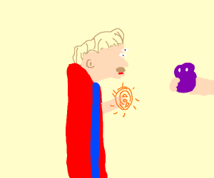 Purple blob is given to baby dr. Strange