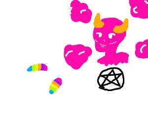 rainbow maggots worship satan