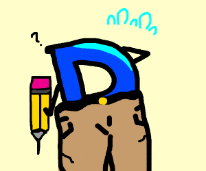 drawception logo with pants