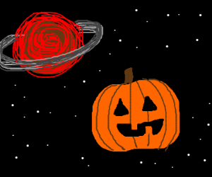 Halloween in outer space