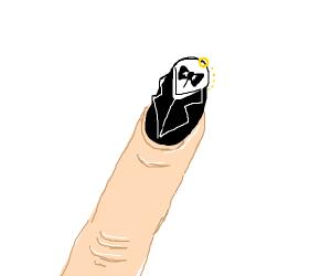 pretentious nail