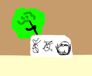 A cabbage learns to draw