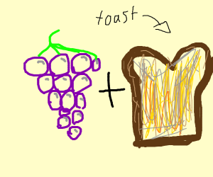 Grape toast