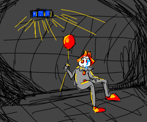 Sad Pennywise in sewer