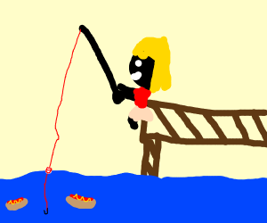 fishing for hot dogs