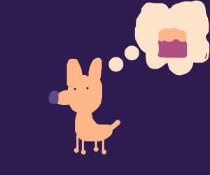 dog wishes he had more food