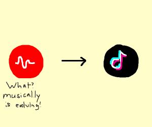 musical.ly turning into tik tok!!