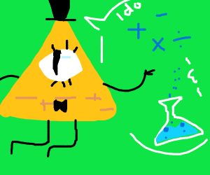 Bill cipher does math and science