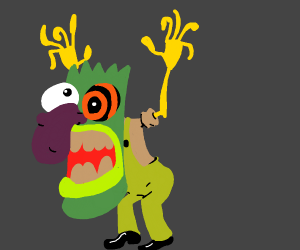 Boogie monster with french fry fingers