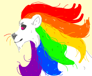gay pride lion