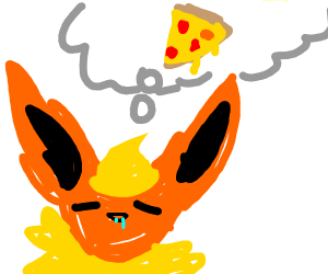Flareon wants a pizza