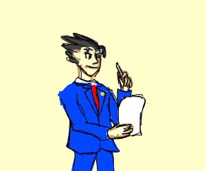 Man with blue shirt writing a letter