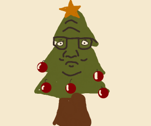 hank the christmas tree