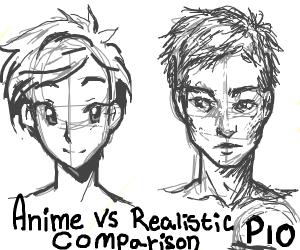 Anime vs Realistic Comparison (PIO)