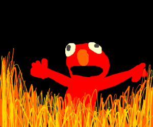 Elmo burns in hell for his sins