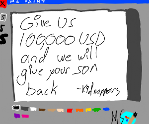MS paint ransom note