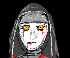 Scary killer nun