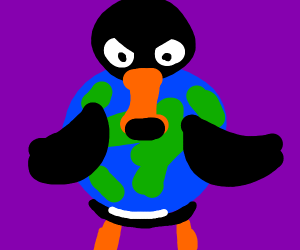 Evil Pengu wants the world