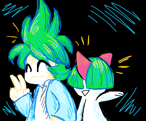 Wally and his Ralts bein cute