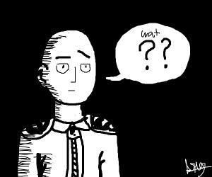 Saitama is confused