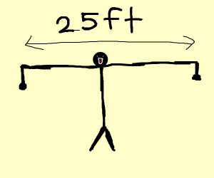 Man with 25ft wide shoulders
