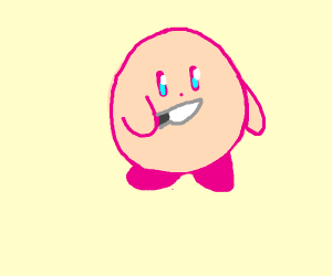 Kirby is going to hurt you