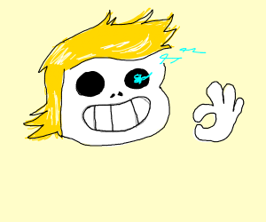 Sans has Donald Trump's hair