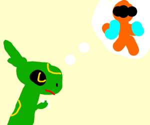 Rayquaza thinks of deoxys