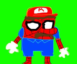 Mario, Spongebob, and Spiderman