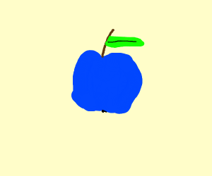A blue apple product
