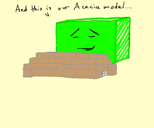 Acacia House in Minecraft